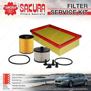 Sakura Oil Air Fuel Filter Service Kit for Peugeot 307 T6 2.0L HDi 10/05-06/08