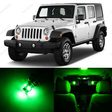 5 x Green LED Interior Light Package For 2007 - 2014 Jeep Wrangler