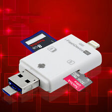 1X i-Flash Drive USB Micro SD/TF Card Reader Adapter For iPhone iPad Androi