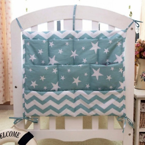 Cartoon  Nursery Hanging Storage Bag Baby Cot Bed Crib Organizer Diaper Pocket
