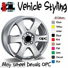 OPC Vauxhall Opel Alloy Wheel Sticker Decal x6