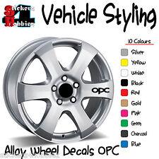 OPC Vauxhall Opel Alloy Wheel Sticker Decal x6