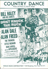 "DON'T KNOCK THE ROCK Sheet Music ""Country Dance"" Bill Haley Little Richard"