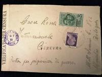 Italien Deutsches Reich 26.03.1945 - Zensur Brief Bologna - Ginevra    Nr.4