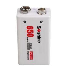 9V 650mAh 7.4V Li-ion Rechargeable Battery pre-charged for Soshine IB