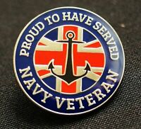 Royal Navy British Veteran new enamel pin lapel badge UK Union Jack