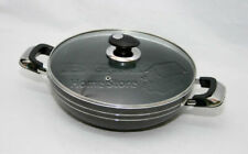 28cm Una Non Stick Compatible Induction Frying Wok Sauce Pan With Glass Lid HQ