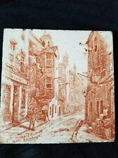 Cardinal Beaton's House Edinburgh antique ceramic tile by Mintons China Works