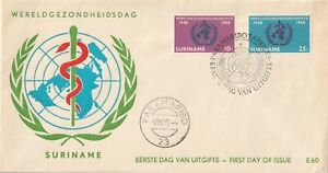 1968 Suriname FDC cover20th Anniversary United Nation Organisation