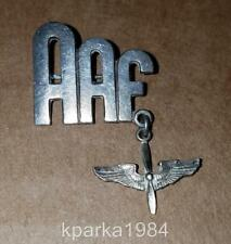 WW2 ERA US ARMY AIR FORCES AAF & WINGED PROPELLOR SWEETHEART LAPEL PIN