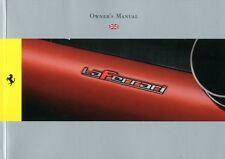 2013 FERRARI LAFERRARI OWNER'S MANUAL BETRIEBSANLEITUNG ENGLISCH 4591/13