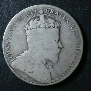 50 cents 1904 Canada King Edward VII half dollar c ¢ G-4