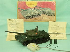 Fernlenkauto Panzer T62 in OVP Spielzeug Kabelfernsteuerung Anker Piko Presu DDR