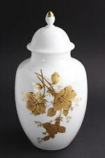 AK Kaiser Porzellan Deckelvase Weiß Gold Clarissa