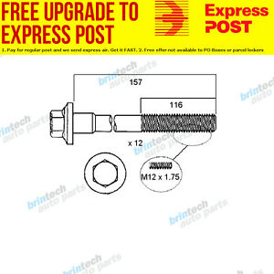 2004-2006 For Volvo S40 T5 B5254 B5254T3 VCT Head Bolt Set