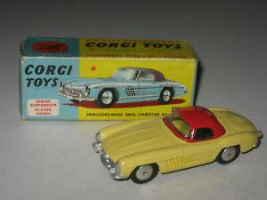 Corgi Toys No. 304 Mercedes-Benz 300SL Hardtop Roadster NM In An Original Box