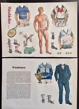 Wimbledon Winner Magazine Paper Doll, 1987, By John Axe