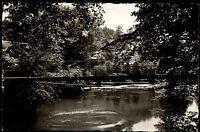 Aach Hegau s/w Ansichtskarte ~1950/60 Partie an der Aach Quelle Brücke Bäume