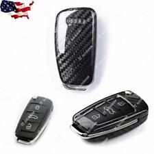Real Carbon Fiber Key Remote FOB Case Shell For Audi A3 A4  TT R8 Q3 Q5 Flip Key
