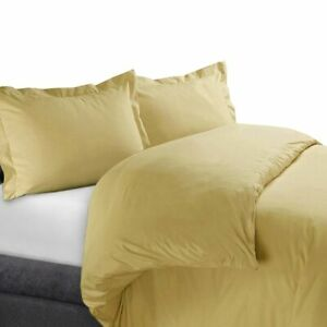 Ultra Soft Cotton 450 TC Solid Duvet Cover Set Full/Queen OR King/Calking Sizes