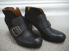 CHIE MIHARA dark brown leather suede ankle boots booties size 39.5