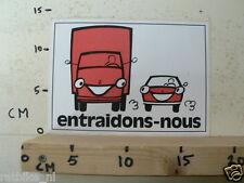STICKER,DECAL ENTRAIDONS-NOUS TRUCK CAR LARGE