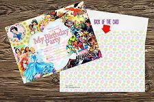 Disney Princess super hero kids birthday party invitations pack 10 thick cards