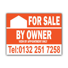For Sale By Owner Correx Sign Boards Estate Agent House Signs X 2 (CORCP00011)