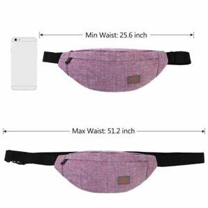 Pillow Shaped Elastic Fit Waterproof Canvas Made Women Waist Belt Chest Bag Pack