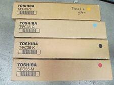 4PK New ! Genuine Toshiba E-Studio 2500C 3500C 3510C Toner T-FC35-K T-FC35C