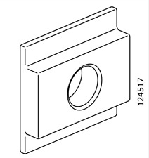 IKEA Suspension Fitting Distance Insert Plastic White for Sextion Part # 124517