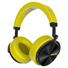 Bluedio T5 Wireless Bluetooth 4.2 Headphones ANC Bass Mic Headsets Yellow Stereo