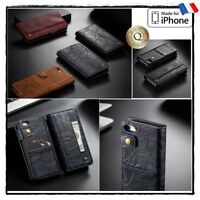 Etui Coque housse Cuir PU Leather Wallet Case Cover iPhone 5s 6s 7 8 + plus X/Xs