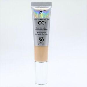 IT Cosmetics CC+ Cream SPF 50 Fair Light 32ml Damaged Box Pump Depressed #3028