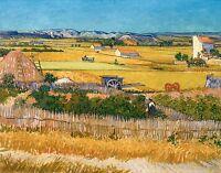 Vincent van Gogh 1888, The Harvest, Fade Resistant HD Art Print or Canvas