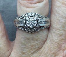 Diamond Halo Ring 1/2 carat TW Platinaire ring size 7