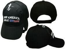cfd47e79 President Trump 2020 Keep America Great Black USA on Front Embroidered Cap  Hat