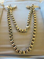 "Link Chain Necklace Nib Chisel 24"" Large"