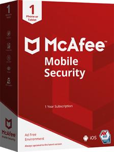 McAfee Mobile Security Lizenz für 1 Jahr, Android oder iOS, Download-Code, Neu