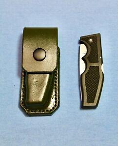 Gerber Knife 500 Magnum LST Jr. & OPSEC-C-C Green Leather Sheath