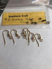 14k Gold Filled Ball End Ear Wire Hook Earring Findings 6 Earrings / Cinch Beads