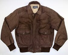 Vintage 80's Brown Leather jacket S 40 -  Soft Leather Suede skate  motorcycle