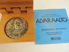 Alvar Aalto Finnish architect and designer, Art Medal 50mm 120g Silver + box+COA