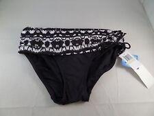 NWT Badgley Mischka Maya Bikini Bottom Size 4 Black white Sexy Great Basic