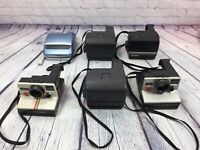 6 Polaroid Cameras One Step Sun 600 Vintage - Untested Lot Sold As Is for Parts