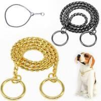 Pet Dog Puppy Choke Chain Snake Chain Dog Training Collar Pet Collar Heavy Duty