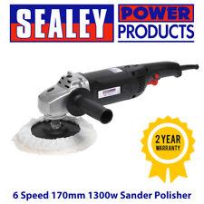 SEALEY Electric MS900PS 6 Speed 170mm 1300w Sander Polisher & Polishing Bonnet