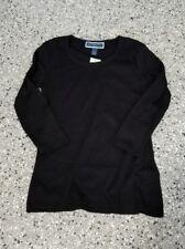 New Karen Scott  Women's  3/4 Sleeve Deep Black Top T-Shirt  Size: Large