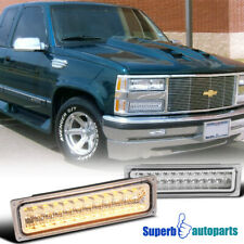 For 88-99 GMC C/K Chevy C10 LED Bumper Signal Lamps Parking Lights