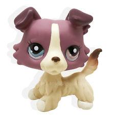 Rare #1262 Littlest Pet Shop Red Brown Collie Dog Puppy Blue Brown Eyes LPS Toy